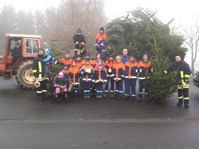 Weihnachtsbäume eingesammelt