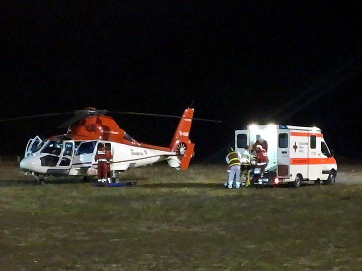 Hilfseinsatz Landung Rettungshubschrauber